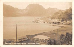 Pago Pago American Samoa Rainmaker and Pago Harbor Real Photo Postcard JH230157