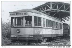RPPC, #3876 Street Car Ohio Railway Museum, Worthington, OH,  Kodak Paper