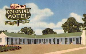 Paris Kentucky Colonial Motel Street View Antique Postcard K80878