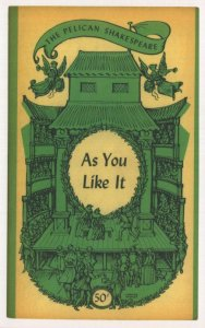 As You Like It Shakespeare 1959 Book Postcard