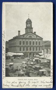 Faneuil Hall Massachusetts Mass ma 1904 undivided back postcard
