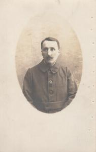 French army infantry corporal soldier portrait early military photo postcard