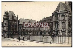 Old Postcard Douai The Hotel de Ville