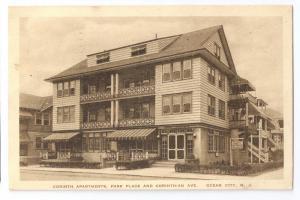 Ocean City NJ Corinth Apartments Vintage Postcard