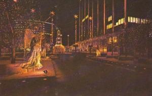 Connecticut Hartford Constitution Plaze Showing Christmas Lighting