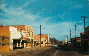 Automobiles Columbia Ripon California North Main Street Postcard 20-7734