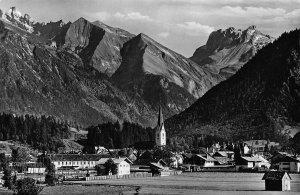 Oberstdorf Allgau mit Krottenspitzen Furschiesser Kratzer Church Postcard