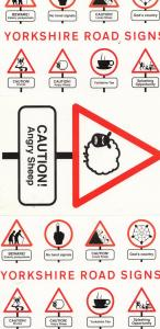 Yorkshire Road Signs Incl Angry Sheep 3x Comic Postcard s