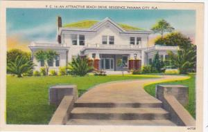 Florida Panama City Attractive Beach Drive Residence 1939