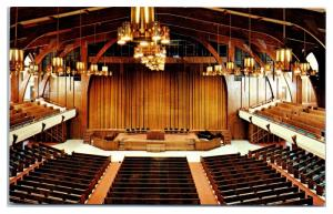 1960s/70s Holcomb Auditorium Interior, Glorieta Baptist Assembly, NM Postcard