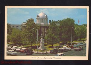 DYERSBURG TENNESSEE COUNTY COURT HOUSE 1950's CARS VINTAGE POSTCARD