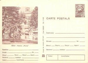 Romania postal stationery postcard Arad Hotel Mures
