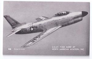 USAF Sabre Jet F-86D USAF North American Aviation Mutoscope Postcard Airplane
