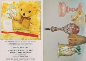 Warley Dentist West Midlands Teddy Bear Advertising Glass Bottle 2x Postcard