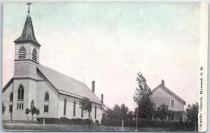 Howard, South Dakota Postcard Catholic Church Building View c1910s Unused