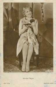 Film star stage & screen history postcard movie actress Anita Page