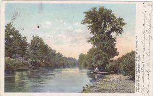 New England views on Boston & Maine R.R. Nashua River, Clinton, Massachusetts...