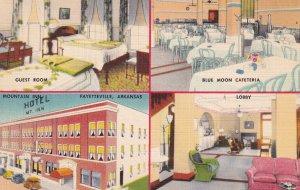 FAYETTEVILLE, Arkansas, 1930-1940's; Hotel Mountain Inn, Guest Room, Blue Moo...