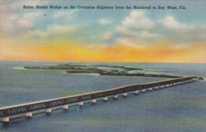 Florida Bahia Honda Bridge On Overseas Highway From Mainland To Key West Curt...