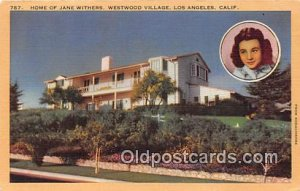 Home of Jane Withers Los Angeles, CA, USA Unused