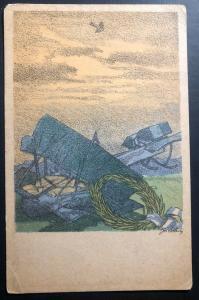 Mint Austria Picture Postcard KuK Forces War Graves Commission Aircraft Disaster