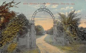 Sioux City IA Metal Arched Entrance to South Park Cemetery~Rotograph c1910