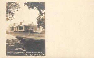 RPPC Main House At Green Acres, Canton, Maine 1921 Vintage Real Photo Postcard