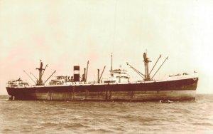 s.s. Delfshaven III 1946 Gebr V. Uden Scheepvaart Maatschappij RPPC Ship 06.29