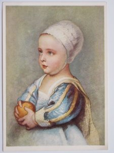 Baby Stuart by Anthonis Van Dyck Vintage Continental Chrome Postcard