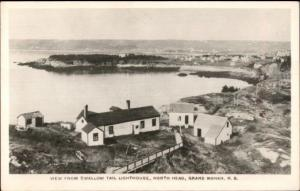 Grand Manan NB From Lighthouse North Head Real Photo Postcard