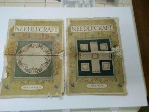 Needlecraft 1919 October Magazine Advertising Yarn Great Graphics Good Condition