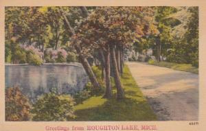 Michigan Greetings From Houghton Lake