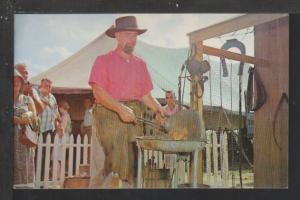 Amish,Pennsylvania Dutch,Blacksmith Postcard