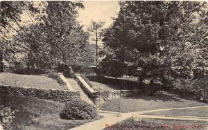 E12/ Sidney Ohio Postcard c1910 North Ohio Avenue Homes Staircase