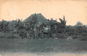 Singapore Malay Village Traditional House 1918