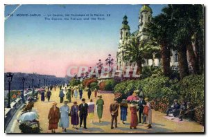 Old Postcard Monte Carlo Casino Terraces and the Rock