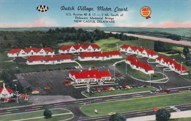 Delaware New Castle Dutch Village Motor Court 1958