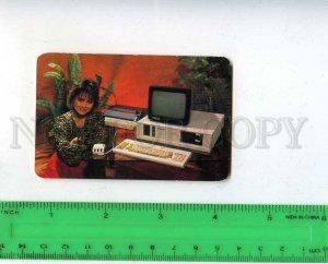 260013 USSR BELARUS ADVERTISING MINSK Computers Pocket CALENDAR 1991 year