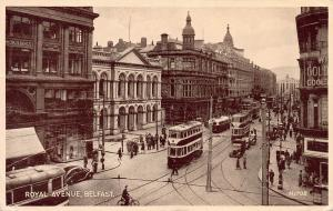 Royal Ave., Belfast, Northern Ireland, Early Postcard, Used