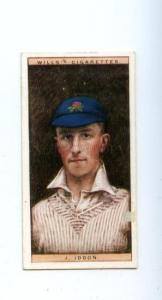 166943 Jack IDDON English cricketer old CIGARETTE card