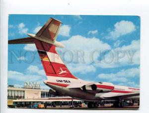 263406 GERMANY Interflug ADVERTISING Moscow airport IL-62