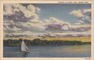 Sailing On Carter Lake Omaha Nebraska Curteich