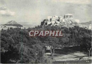 Modern Postcard The Acropolis of Athens to North West coast