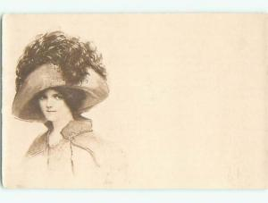 Divided-Back PRETTY WOMAN Risque Interest Postcard AA7873