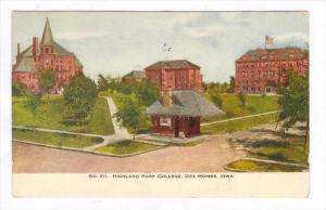 Highland Park College, Des Moines, Iowa, PU-1908