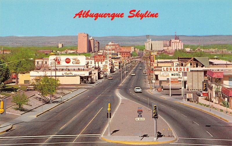 Albuquerque New Mexico~Central Avenue~Italian Gardens Pizza~Texaco~Coke BB~1964