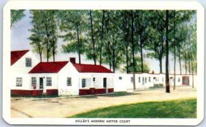 Alexandria VA Postcard MILLER'S MODERN MOTOR COURT Route 1 Roadside 1950s