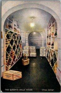 Vintage TUCK'S Queen's Doll House Series 1 Postcard WINE CELLAR c1910s Unused
