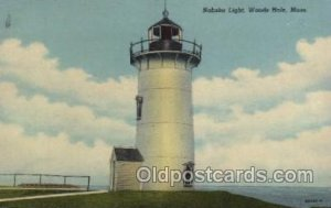 Nobska light, woods hole, Mass, USA USA Lighthouse Unused crease right top ed...