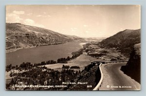 RPPC of Columbia River Highway OR, Rowena Point Oregon Postcard